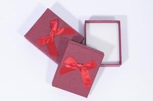 Gift boxes on white background