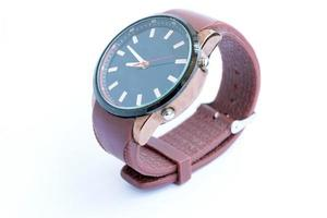 Analog fashion watch on white background