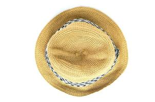 Isolated straw hat on white background
