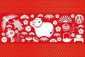 Year Of The Ox New Years Greeting Card