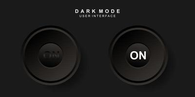 icono de encendido en diseño de neumorfismo oscuro