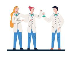 Medical staff worker characters vector