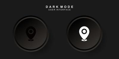 interfaz de usuario de ubicación creativa simple en diseño de neumorfismo oscuro