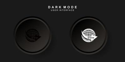 interfaz de usuario del sitio web creativo simple en diseño de neumorfismo oscuro
