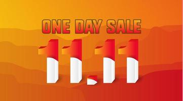 One day sale banner concept design