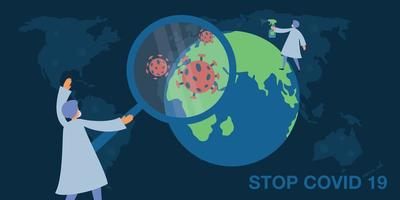 Doctors protecting the world from coronavirus poster