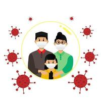 Masked family protected from virus design