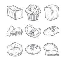 Baked goods icon set