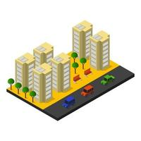 Isometric city on white background
