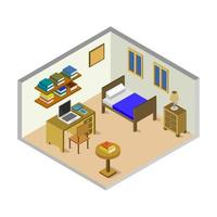 Isometric baby room on white