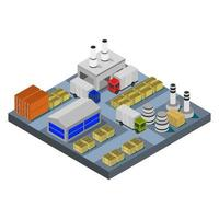 Isometric industry on white background