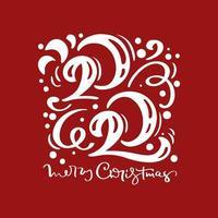 2020 Merry Christmas calligraphic design