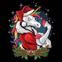 Santa Claus rainbow unicorn