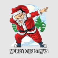 Santa Claus dabbing dance vector