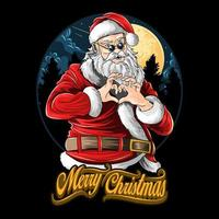 Santa Claus doing heart sign