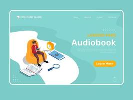 Audiobook Landing Page vector