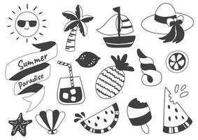 Summer themed set vector