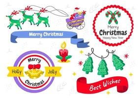 Christmas banner labels vector
