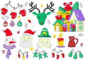Christmas themed set vector