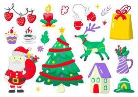 Christmas label set vector
