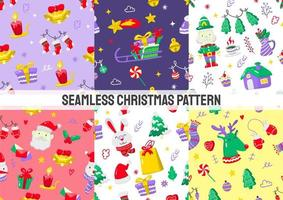 patrones de navidad sin costura