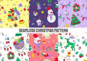 conjunto de patrones de navidad sin costuras
