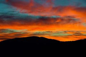 Webb Overlook in Great Smoky Mountains National Park at Sunset photo