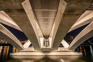 Underside Rich Street Bridge Scioto River Downtown Columbus Ohio  HDR photo