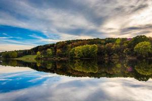 Afternoon reflections at Long Arm Reservoir, near Hanover, Penns