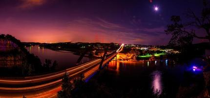 Dream World At night comes to life over Pennybacker