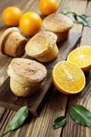 Homemade orange muffins photo