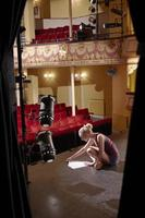 Woman Reading Script On Stage