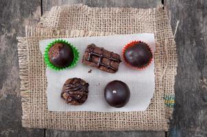 Homemade chocolate brownies photo