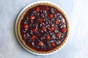 delicious jam tart of cherry photo
