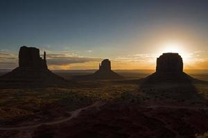 valle del monumento - parque tribal navajo foto