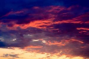 Spectacular indigo and pink sunset