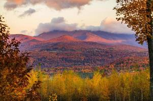 Fall foliage on Mt. Mansfield in Stowe, Vermont, USA photo