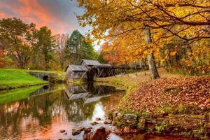 Mabry Mill in October photo