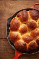 Brioche ball pie in a pan photo