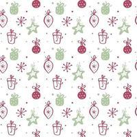 textura de patrones sin fisuras de navidad con cajas de regalo vector