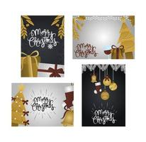 Set deluxe Christmas greeting cards