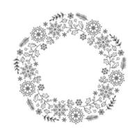 Christmas monoline floral wreath