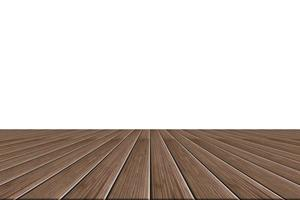 Wood floor on white background