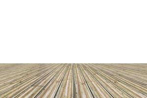 piso de madera sobre fondo blanco foto