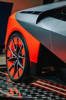 Detail of BMW tire