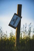 No Hunting signage