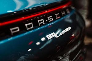 Close up of Porsche