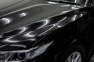 Close-up of polished car