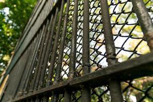 Vintage steel fence