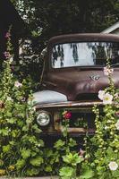 Old brown vintage truck